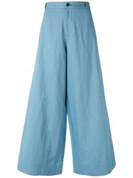 Societe Anonyme New Berlino Wide Leg Pants Blue