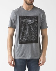 Element Grey Printed Organic Cotton Logs T Shirt