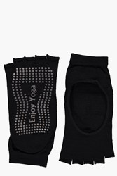 Boohoo Fit Anti Slip Yoga Socks Black