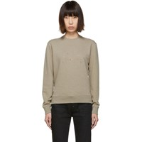 Saint Laurent Taupe Stars Sweatshirt