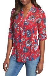Kut From The Kloth Jasmine Top Red 2