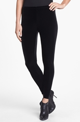 Eileen Fisher Stretch Velvet Leggings Regular And Petite Black