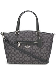 Coach Front Zipper Pocket Tote Black