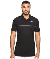 Nike Mobility Precision Polo Black Black Anthracite Flat Silver Men's Short Sleeve Pullover