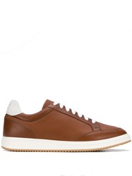 Brunello Cucinelli Lace Up Sneakers Brown