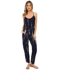 Brigitte Bailey Lucie Tie Dye Jumper Navy Ivory Women's Jumpsuit And Rompers One Piece Blue
