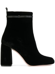 Red Valentino Ankle Boots Women Cotton Leather 38 Black