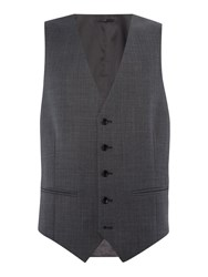 Howick Men's Tailored Gibson Check Suit Waistcoat Grey