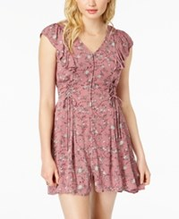 American Rag Juniors' Lace Up Fit And Flare Dress Wild Ginger Combo