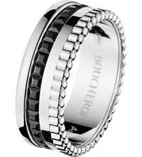 Boucheron Quatre 18Ct White Gold With Pvd Ring