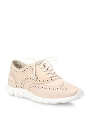 Cole Haan Zerogrand Suede Wingtip Oxford Sneakers Ivory
