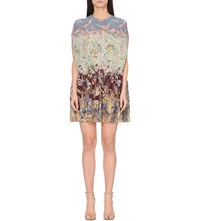 Valentino Floral Print Silk Dress Garden Party