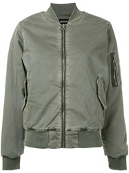 Hudson Deconstructed Bomber Jacket Green