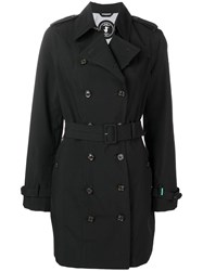 Save The Duck Double Breasted Trench Coat Black