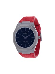 D1 Milano Ultra Thin Watch Red