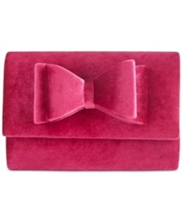 Inc International Concepts Leesie Velvet Clutch Only At Macy's Berry