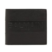 Balmain Leather Wallet Black
