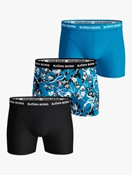 Bjorn Borg Flower Print Trunks Pack Of 3 Multi