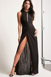 Forever 21 Cutout Twist Front Maxi Dress Black