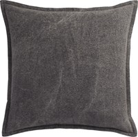 Cb2 Eclipse Charcoal 20'' Pillow With Feather Insert