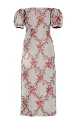 Brock Collection Ditsy Off The Shoulder Taffeta Dress Floral