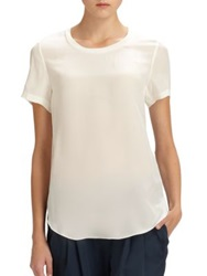 3.1 Phillip Lim Silk Shirttail Tee White