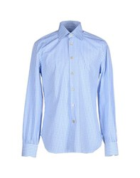 Kiton Shirts Shirts Men Azure
