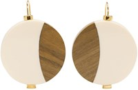 Marni Ivory Wood Drop Earrings