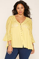 Forever 21 Plus Size Bell Sleeve Lace Top