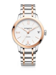 Baume And Mercier Classima Rose Goldtone And Stainless Steel Bracelet Watch Silver Gold