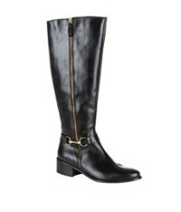 Carvela Kurt Geiger Waffle Riding Boot Black
