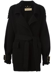 Burberry Oversized Belt Cardigan Black