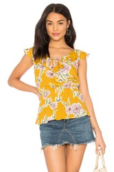 Cupcakes And Cashmere Alex Top Mustard