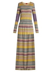 Missoni Striped Knit Maxi Dress Multi