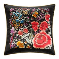 Roberto Cavalli Enchanted Garden Silk Cushion Red