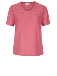 Eastex Texture Jersey Top Pink
