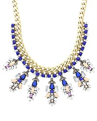 Sparkling Sage Layered And Stone Seven Station Collage Necklace Compare At 147 Burnished Gold Blue