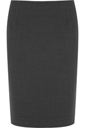 Theory Stretch Crepe Pencil Skirt Gray