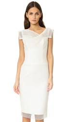 Black Halo Jackie O Anniversary Collection Bonded Mesh Sheath Dress Natural White
