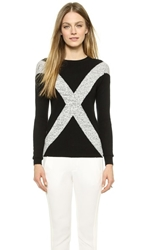 Top Secret Love Crewneck Sweater Black Ivory
