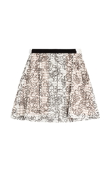 Julien David Printed Cotton Skirt With Embellishment