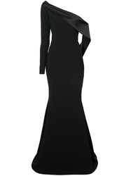 Christian Siriano Off Shoulder Flared Gown Black