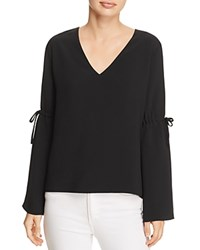 Cooper And Ella Ingrid Tie Sleeve Blouse Black