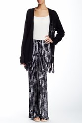 Hip Mixed Print Flare Leg Pant Black