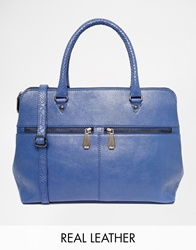 Ri2k Leather Bag With Zip Detail Ultraviolet
