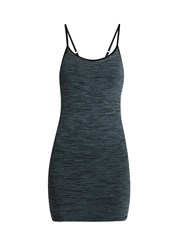 Pepper And Mayne Scoop Neck Compression Performance Tank Top Dark Blue