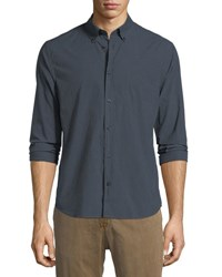 Billy Reid Rosedale Cotton Sport Shirt Green
