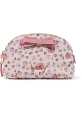 Miu Miu Leather Trimmed Floral Print Canvas Cosmetics Case Pink