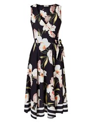 Precis Petite Border Floral Dress Multi Coloured Multi Coloured