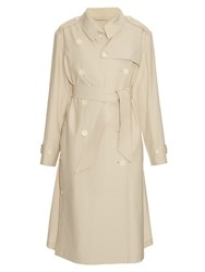 Christophe Lemaire Belted Cotton Trench Coat Ivory